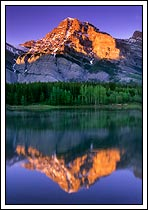 Mt Kidd and reflection, Kananaskis Country, Alberta, Canada