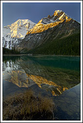 Mt Edith Cavell and Edith Cavell Lake Reflections