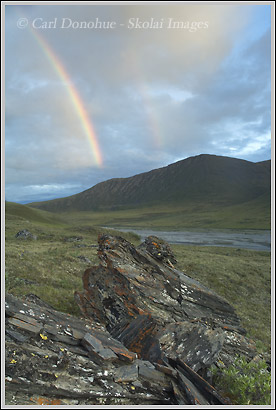 Rainbow over Brooks range, ANWR, Alaska
