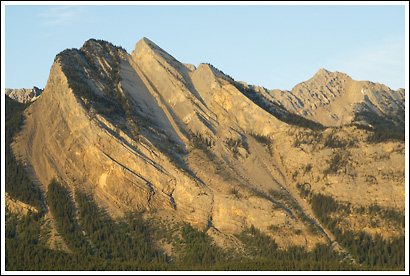 Granite wall, Jasper National Park, Alberta, Canada.