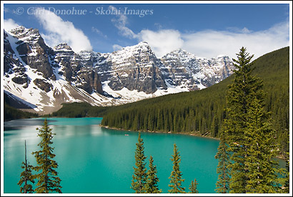 Moraine Lake photo, Wenkchemna Peaks, Banff National Park, Alberta, Canada.