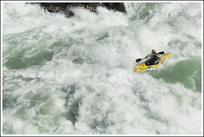 whitewater kayaking on the Rio Baker, Baker River, Patagonia, Chile.