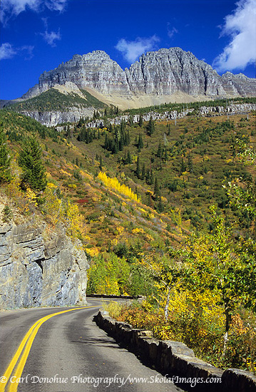 Going to the Sun road, in the Rocky Mountains, Glacier National Park, Montana, in the fall, is one of the highlights of the Rockies.