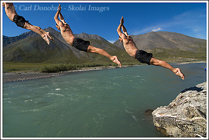 diving in the Canning river, anwr