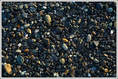 Rocks and pebbles on Point Carrew, near Cannon beach, outside Yakutat, Alaska.
