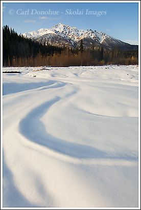 Lakina river, early winter, Wrangell - St. Elias National Park, Alaska.