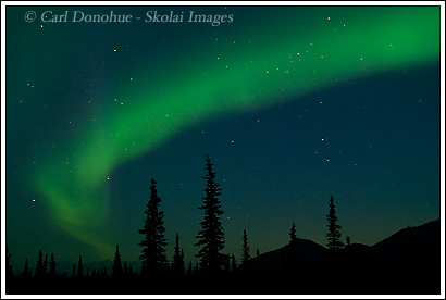 Northern Lights over Wrangell - St. Elias National Park, Alaska.