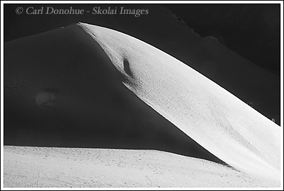 A snowbank in Wrangell - St. Elias National Park, winter, Alaska.