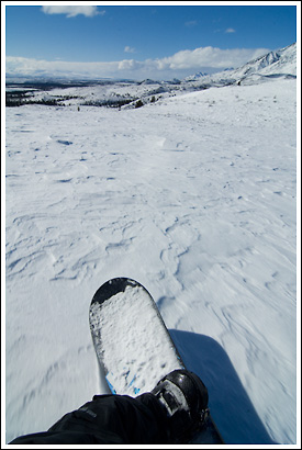 Snowboarding the Mentasta Mountains, Wrangell - St. Elias National Park, Alaska.