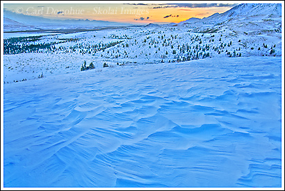Winter in the Mentasta Mountains, Wrangell - St. Elias National Park.
