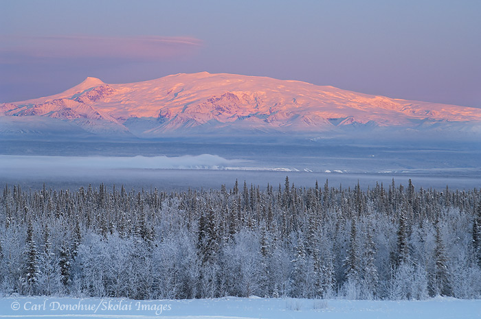 winter, Mt. Wrangell, Wrangell - St. Elias National Park and Preserve, Alaska
