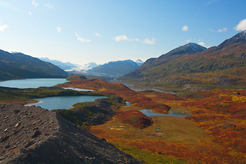Ross Green Lake, fall, Wrangell - St. Elias National Park and Pr
