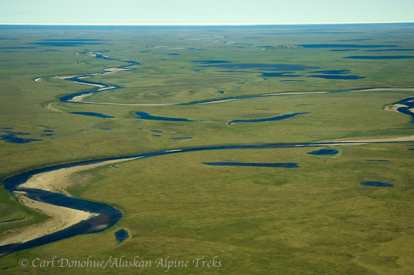 Coastal plain, Arctic National Wildlife Refuge, Alaska (aerial)