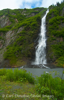 Bridal Veil Falls, Keystone Canyon, Richardson Highway, Valdez,
