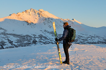 Skiing, Chugach Mountains, Alaska.