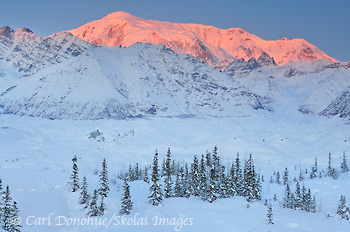 Winter in Wrangell - St. Elias National Park and Preserve, Kuskulana River, Alaska.