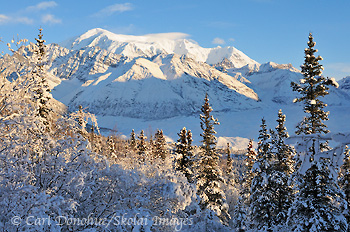 Winter in Wrangell - St. Elias National Park and Preserve, Mt. Blackburn, Alaska.