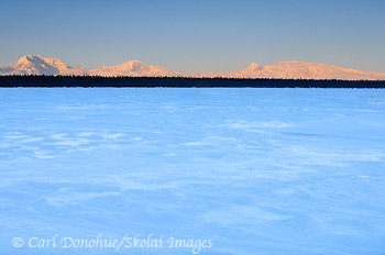 Wrangell Mountains, Willow Lake, Wrangell - St. Elias National Park and Preserve, Alaska.