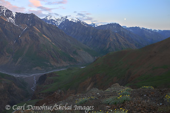 Chitistone River and University Range, Wrangell - St. Elias National Park and Preserve, Alaska.