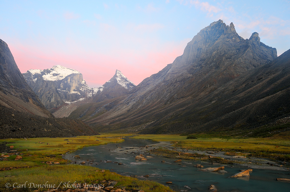 Sunrise, Arrigetch Peaks, Gates of the Arctic National Park and Preserve, Alaska.