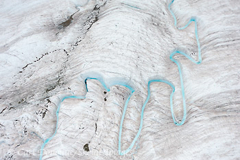 Glacial Stream, Root Glacier, Wrangell - St. Elias National Park and Preserve, Alaska.