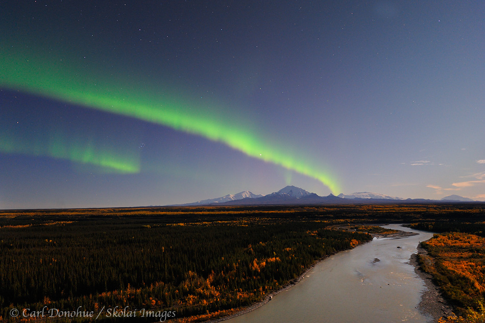 Northern lights, Wrangell - St. Elias National Park and Preserve, Alaska.