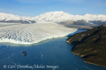 Hubbard Glacier and Gilbert Point, Wrangell - St. Elias National Park and Preserve, Alaska.