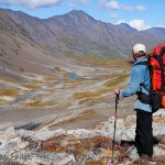 Backpacking, Monahan Creek, Wrangell - St. Elias National Park and Preserve, Alaska.
