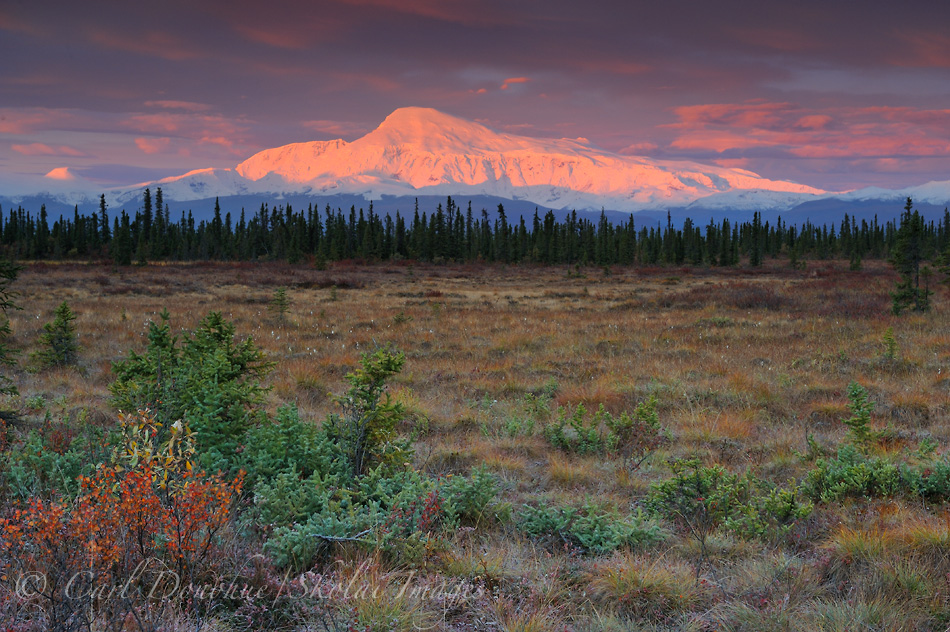 Sunrise, Mt. Sanford, Wrangell - St. Elias National Park and Preserve, Alaska.