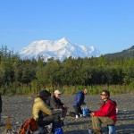 Camping at Kageet Point, Wrangell - St. Elias
