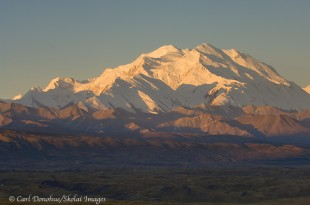 Sunrise on Mount McKinley, Denali National Park, Alaska.