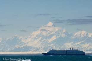 Holland America Cruise ship and Mt. St. Elias