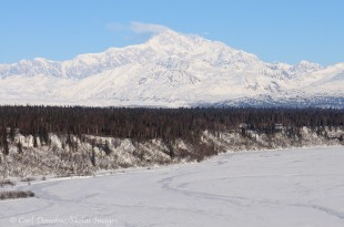 Mt. McKinley south peak photo, from Denali State Park, Alaska.