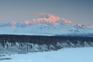 Dawn over the Alaska Range, Denali, Alaska.