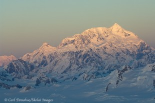 Mt. St. Elias and sunset.