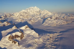 Mount Saint Elias - aerial photo.