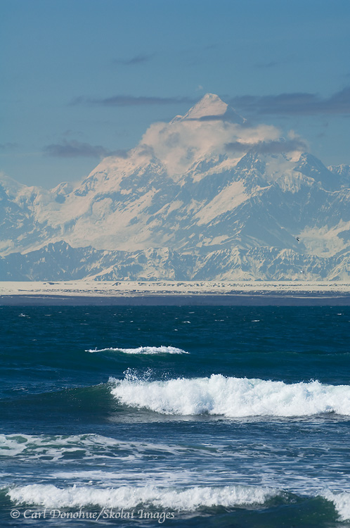 Mt. St. Elias and the beach, Carrew Point.