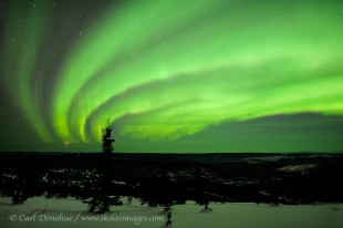 Aurora borealis photo from Cleary Summit, Alaska.