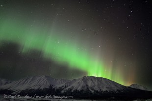 Northern lights over Mt. Porphyry, Alaska.