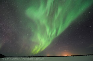 Photo of Aurora borealis over Tanana River