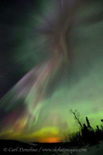 Intense aurora borealis display photo.