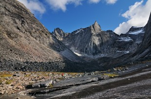 Old glacier valley and geology in the Arrigetch Peaks, Gates of the Arctic National Park and Preserve, Alaska.