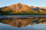 Brooks Mountains Range and reflection near Canning River, Arctic National Wildlife Refuge, Alaska.