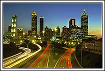 Atlanta skyline from downtown Atlanta, Georgia