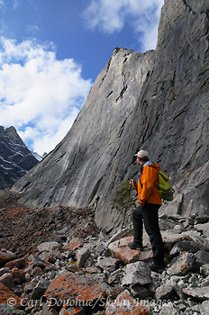 Hiking among Arrigetch Peaks, Gates of the Arctic National Park and Preserve, Alaska.