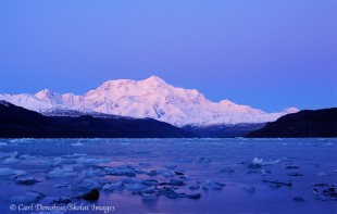 Mt. St. Elias after sunset and Icy Bay.