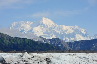 Malaspina Glacier beneath Mt. St. Elias.