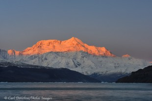 Mount Saint Elias and alpenglow.