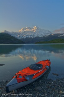 Icy Bay sea kayak photo with Mt. St. Elias