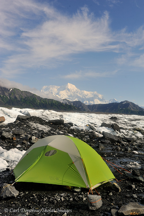 Camping by Mt. St. Elias.